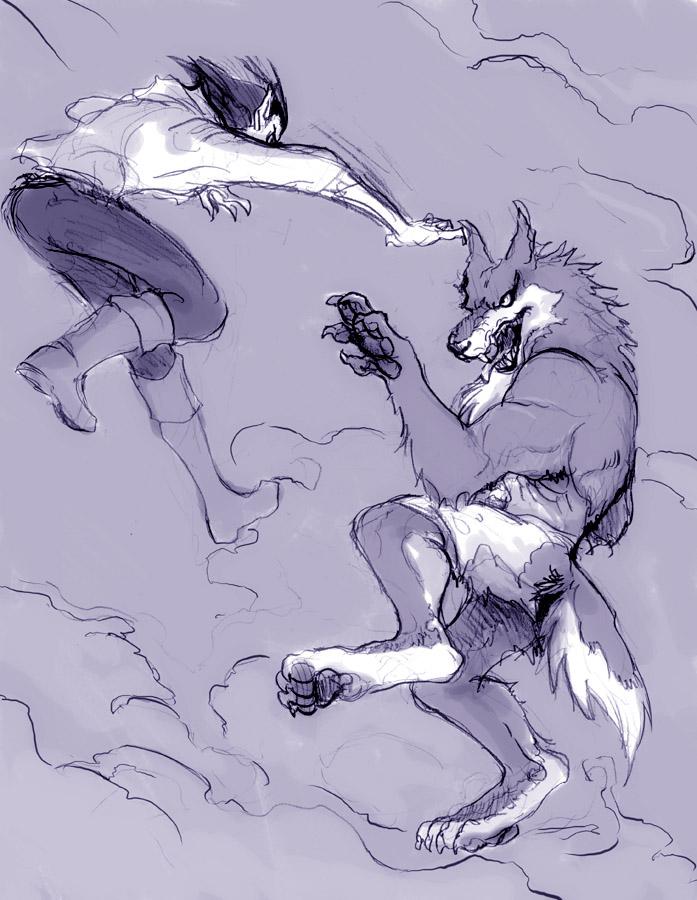 Karate Werewolf by JadeGL