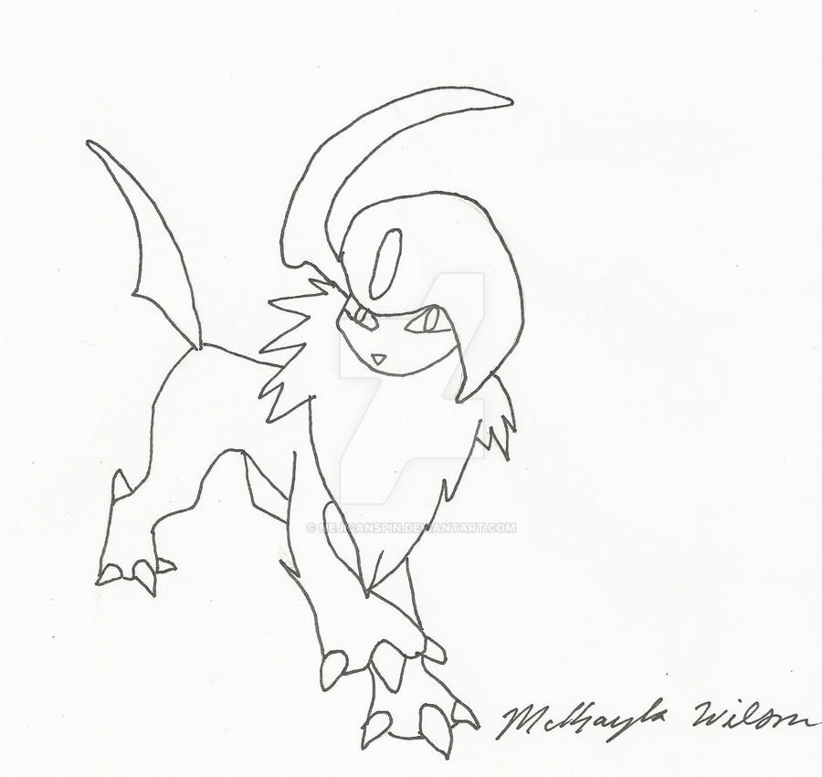 coloring pages absol - photo#23