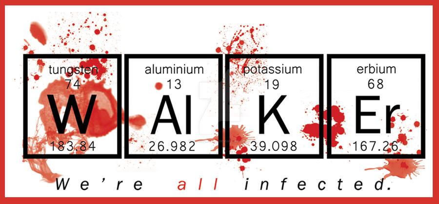 Walker Periodic Table - The Walking Dead