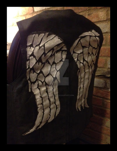 Daryl Dixon Winged Leather vest by Ryleh-Mason