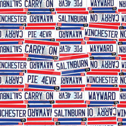 Supernatural License Plate Fabric