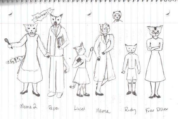 Book Thief Characters by draegyn-eyed on DeviantArt