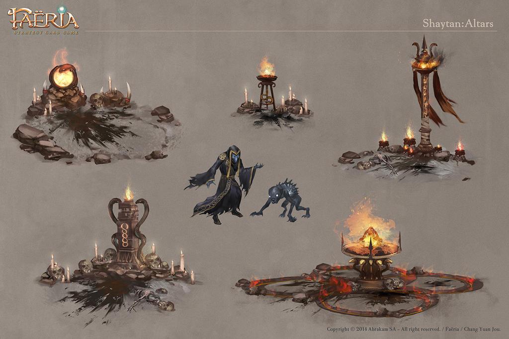 Faeria-Shaytan Altars by ChangYuanJou