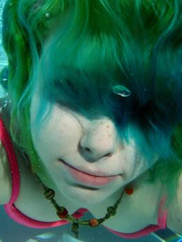 Wavy underwater hair