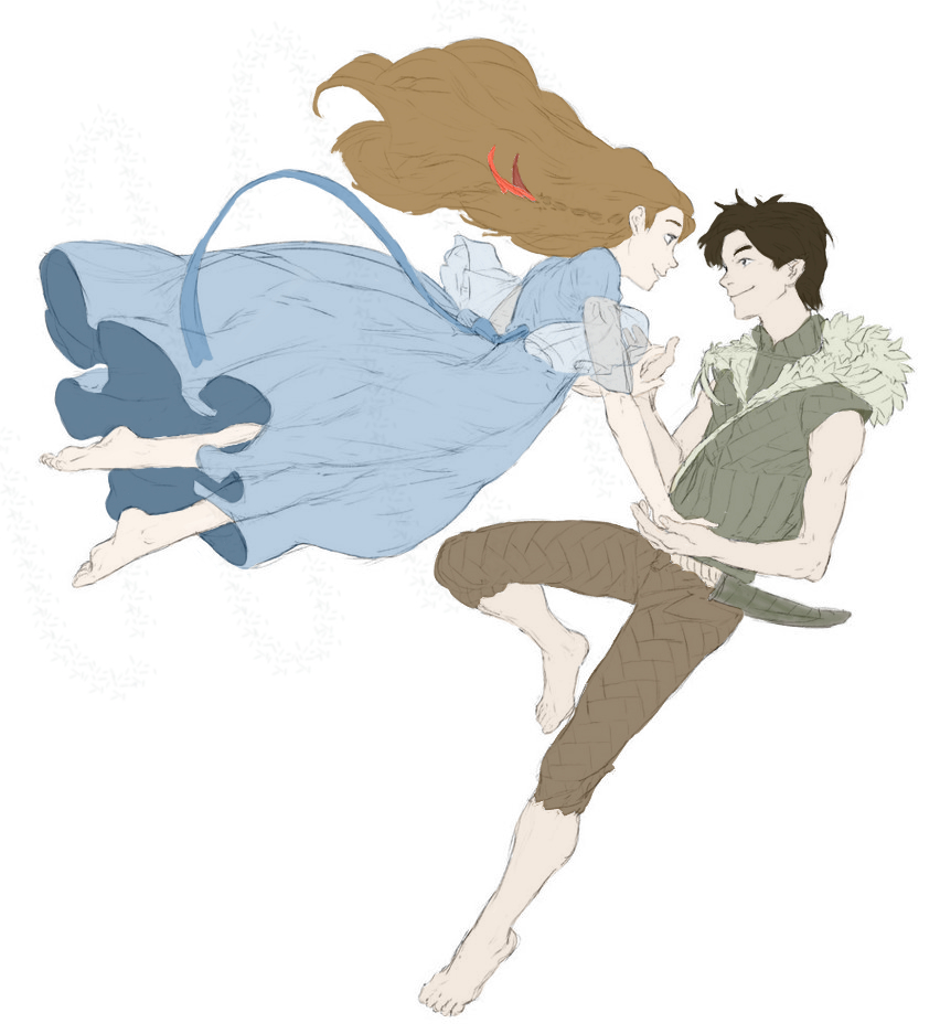 Peter and Wendy Flying Colored by The-First-Marauder on ...