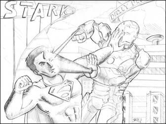 Iron Man vs Man of Steel by Emperorsteele