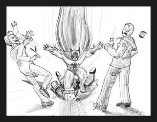 Batman Tripple Take-down by Emperorsteele