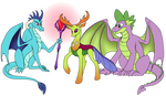 Two Dragons and a Changeling by SirinaRuth