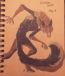 Inktober 2019: AidenWolf by SirinaRuth