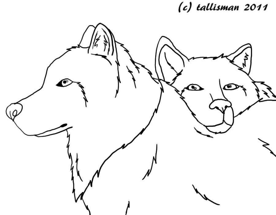 Line Art Love Images : Free line art wolf love by tallybaby on deviantart