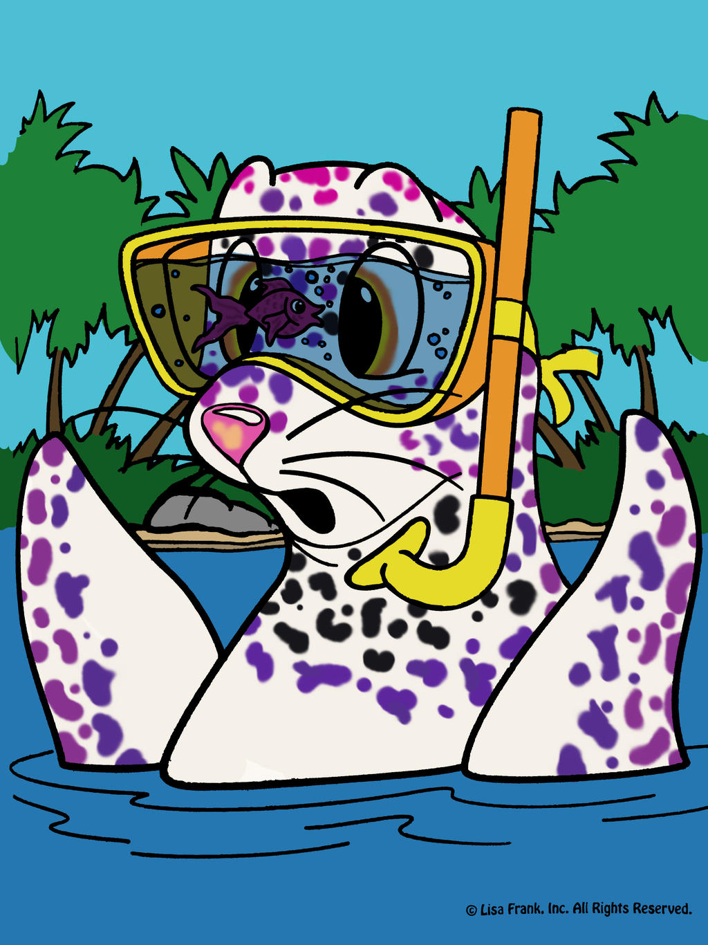 lisa frank coloring page rainbow reef by tallybaby13 on deviantart