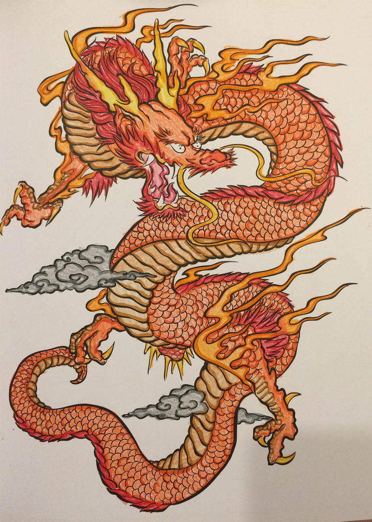 Traditional Dragon by TallyBaby13