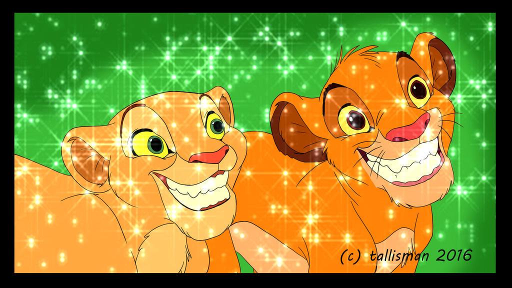 Simba and Nala Sparkle 2016 by TallyBaby13