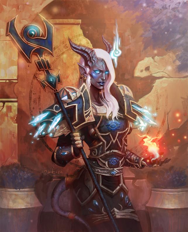 The female Draenai mage by Jaydekim