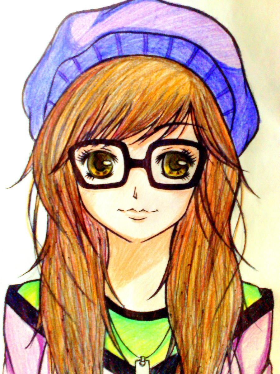 how to draw manga glasses