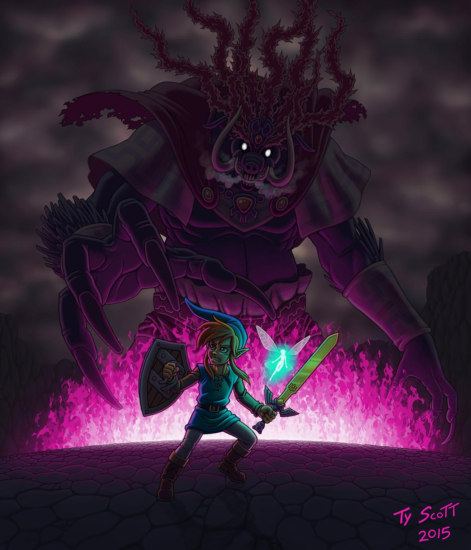The Legend Of Zelda Link Vs Ganon By Tyzilla33191 On