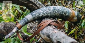 Viking style battle horn