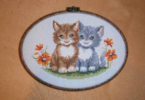 Vervaco - Two Kittens by Fusainne