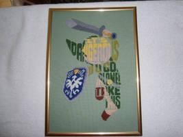 It's dangerous to go alone! - Link cross stitch by Fusainne