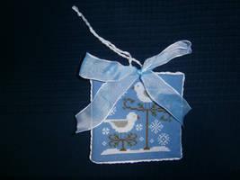 Snow Birds Ornament by Fusainne