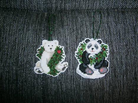 Mill Hill Polar Bear and Panda