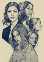 Girls in Ballpoint by Teffles