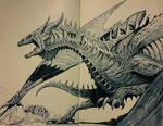 Inktober 2017 #9 - Undead Dragon