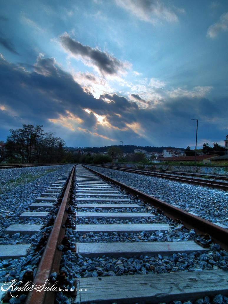 melancholic railways by irenv