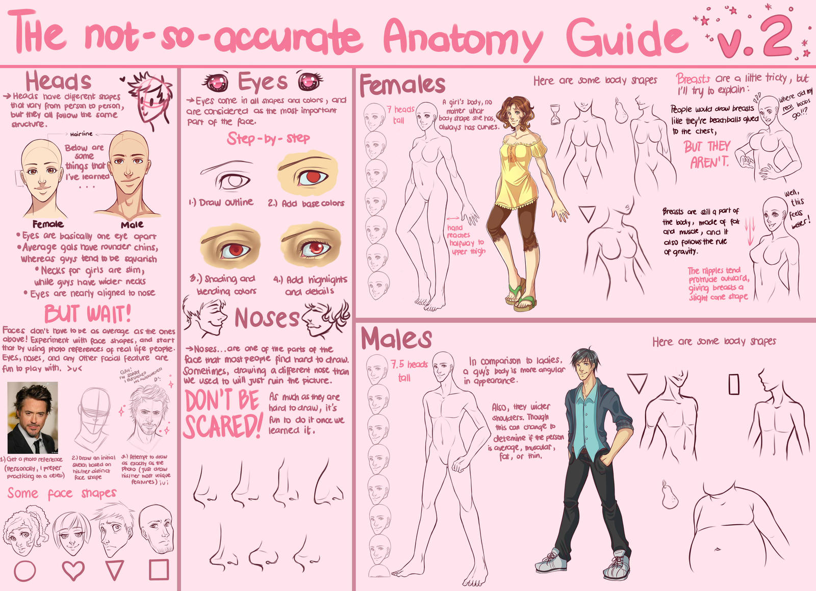 The Notsoaccurate Anatomy Guide V2 By Stardazzle