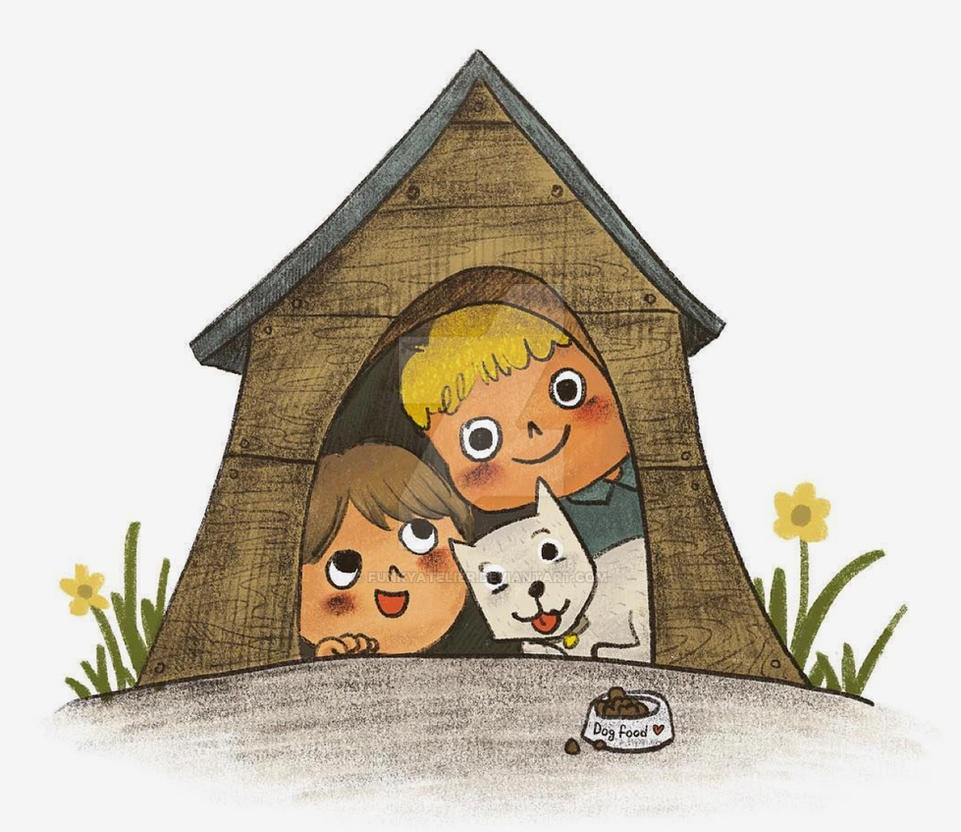 Kids in the dog house by funkyatelier