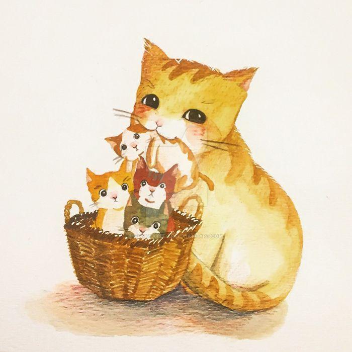 A Cat family by funkyatelier
