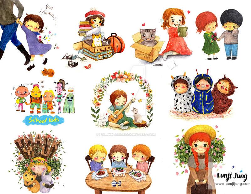 Kids Spot illustrations by funkyatelier