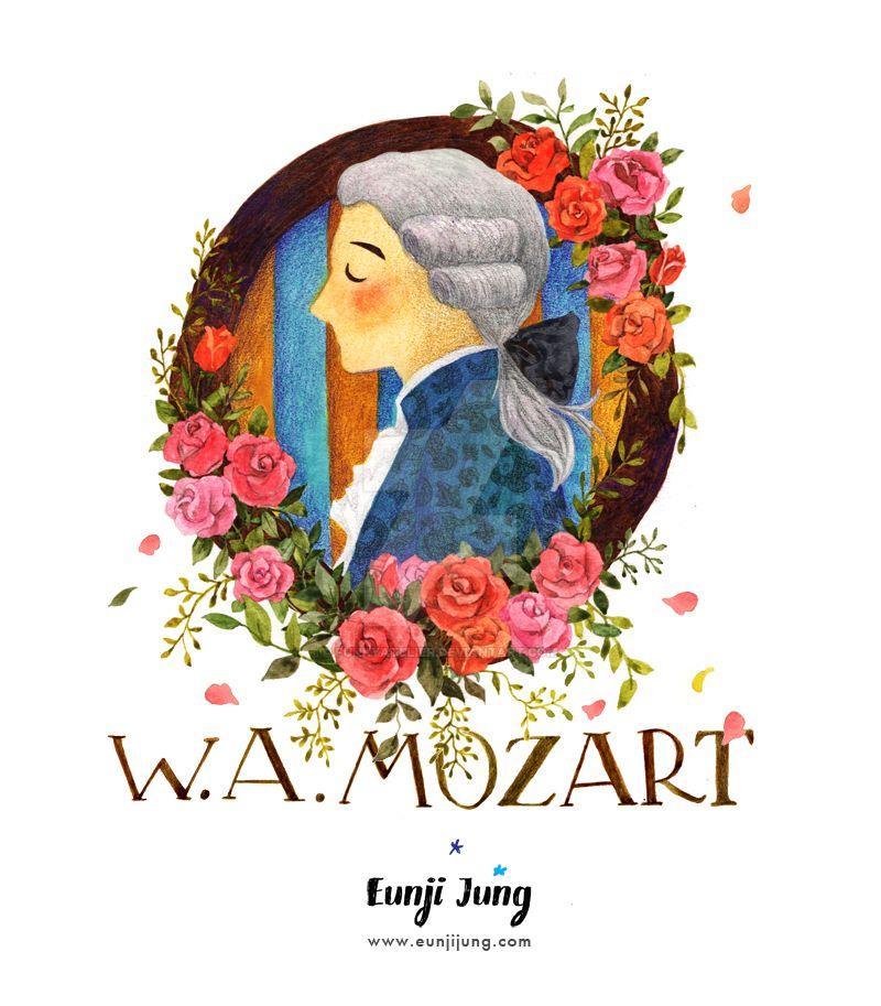 W.A. Mozart by funkyatelier