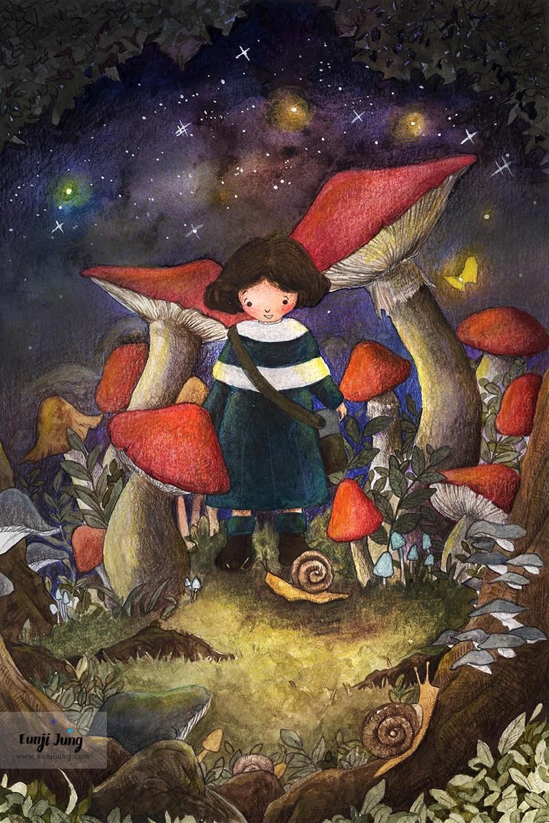 Mushroom Village-s-sig by funkyatelier