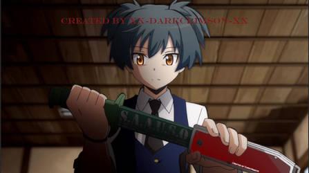 Nagisa drawing his knife by Xx-DarkCrimson-xX