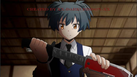Nagisa drawing a steel knife by Xx-DarkCrimson-xX