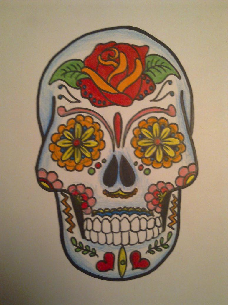 mexican sugar skull by cazanova902 on deviantart. Black Bedroom Furniture Sets. Home Design Ideas