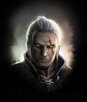 Geralt of Rivia by bailknight