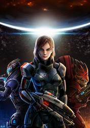 Mass Effect Femshep Fanart