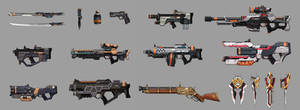 Some weapon designs(Mostly SF guns)
