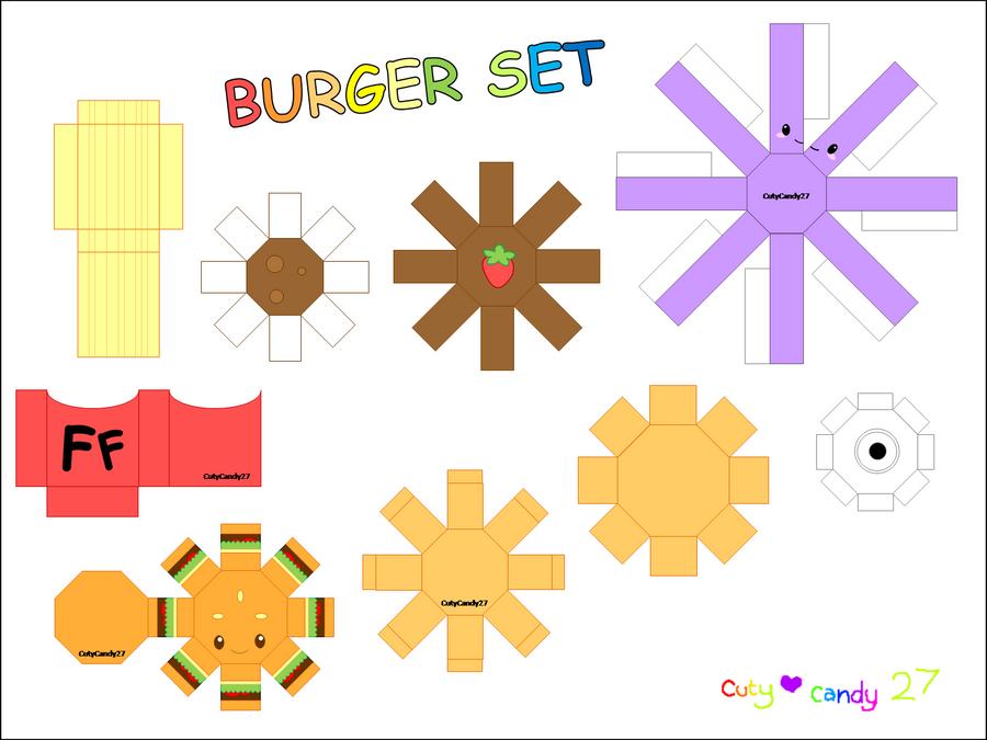 Burger Meal Papercraft By CutyCandy27