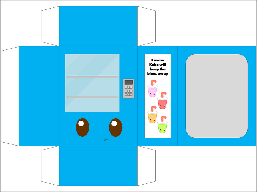Vending Machine Blue By CutyCandy27