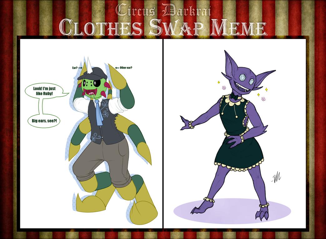 Circus Darkrai : Clothe Swap Meme : Tally and Ruby by TheGrumpyTurtle