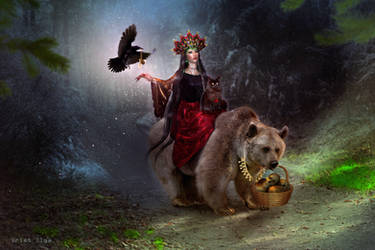 Mara the Slavic goddess (color update)