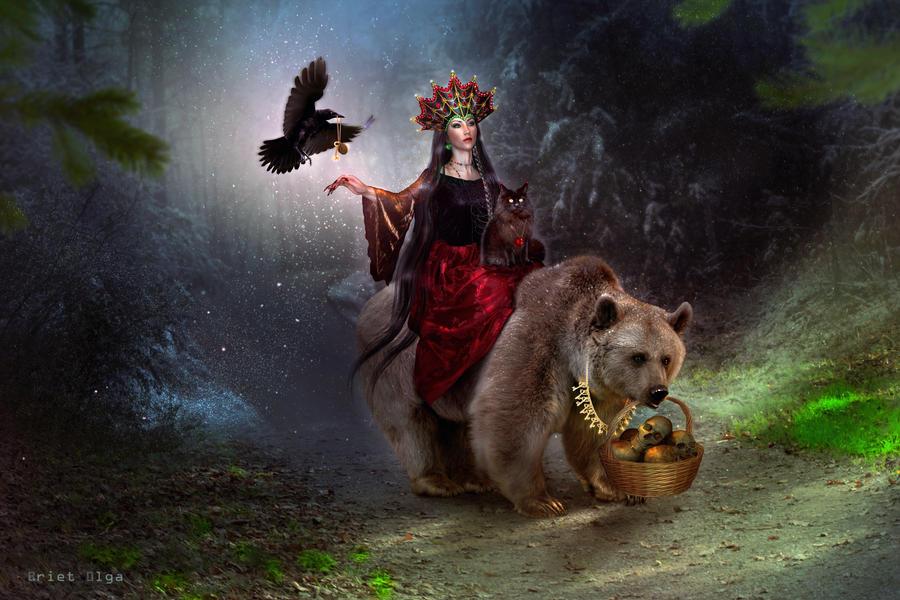 Mara the Slavic goddess (color update) by BrietOlga