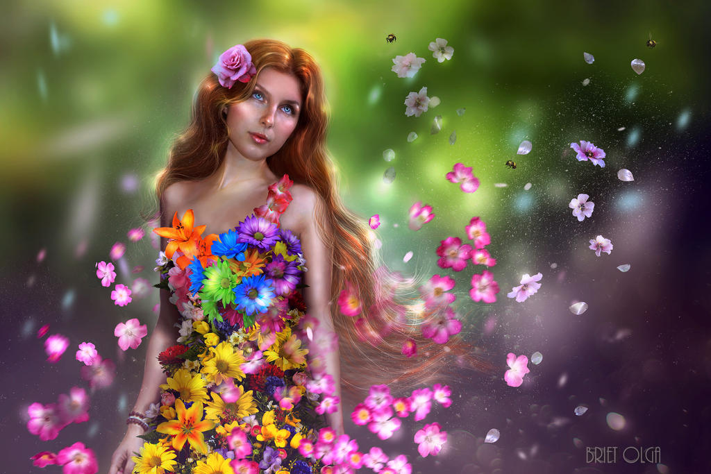 Flower Nymph by brietolga
