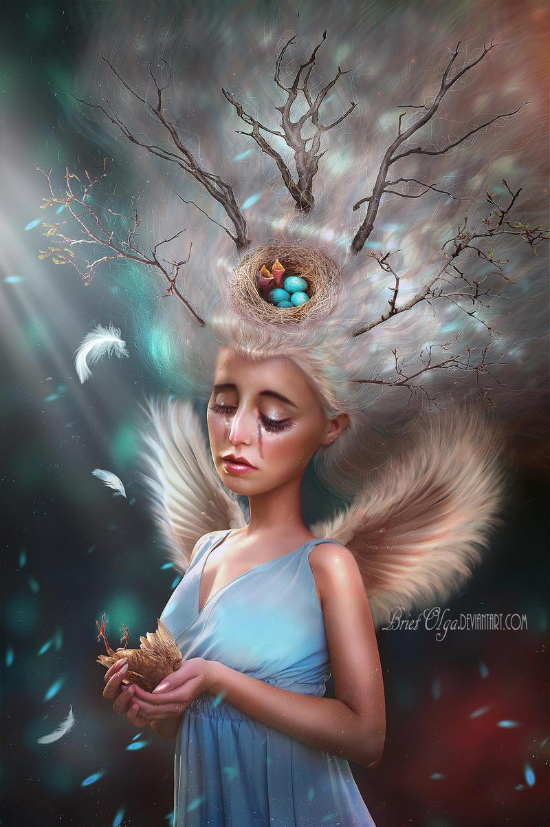 Leja the birds angel by BrietOlga