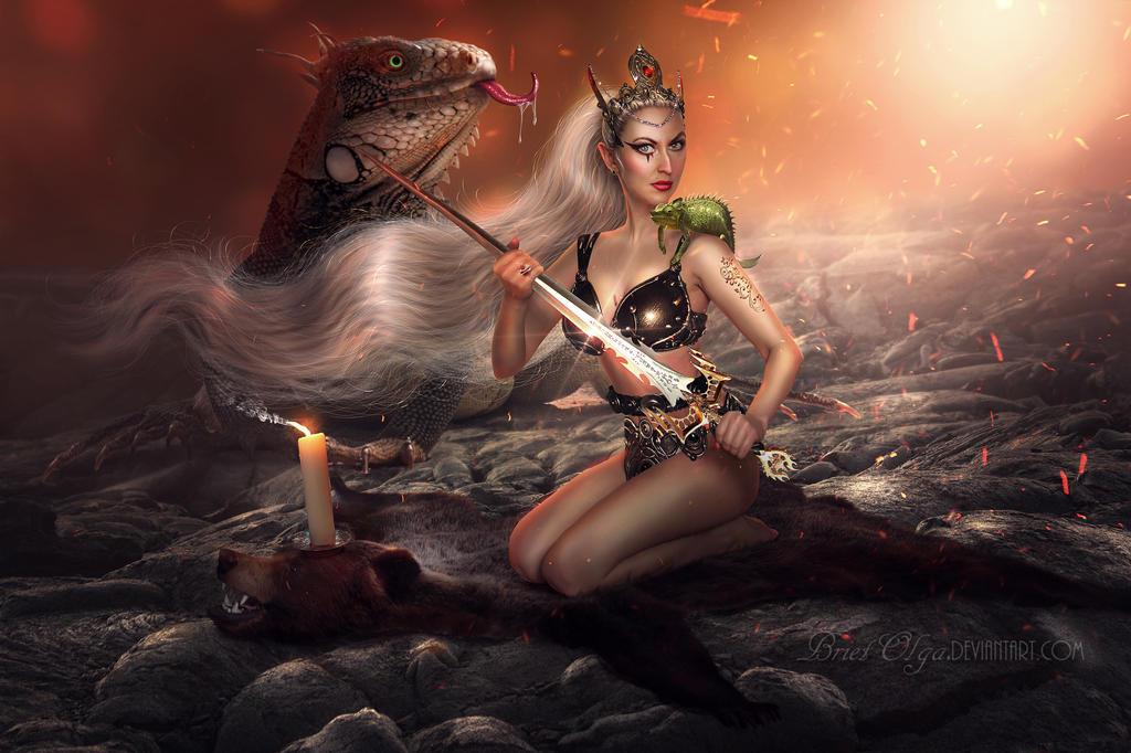Olbana the Patroness of Salamanders by BrietOlga