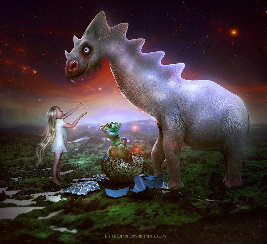 Dinomama by BrietOlga