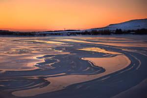 Hafravatn an Icelandic frozen lake by BrietOlga